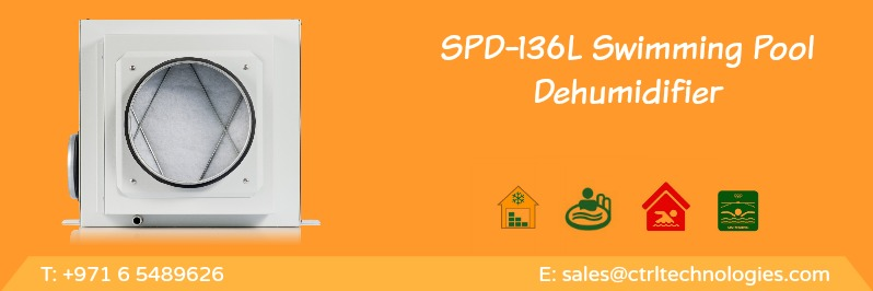 Spd 136l best dehumidifier for swimming pool design in uae for Indoor pool dehumidification design