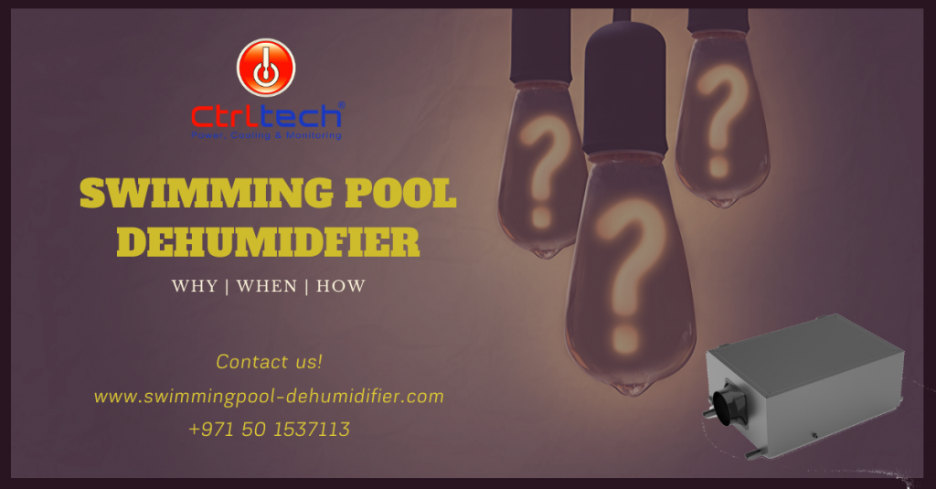 Swimming pool dehumidifier for indoor pool humidity control.