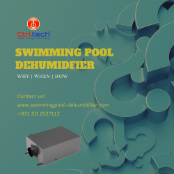 Swimming pool dehumidifier for indoor pool rooms
